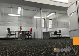Single Glass Partition