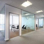 Frameless Glass Partitions Combine with Plasterboard Walls