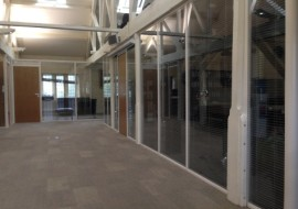 Double Glazed Partitioning with Blinds