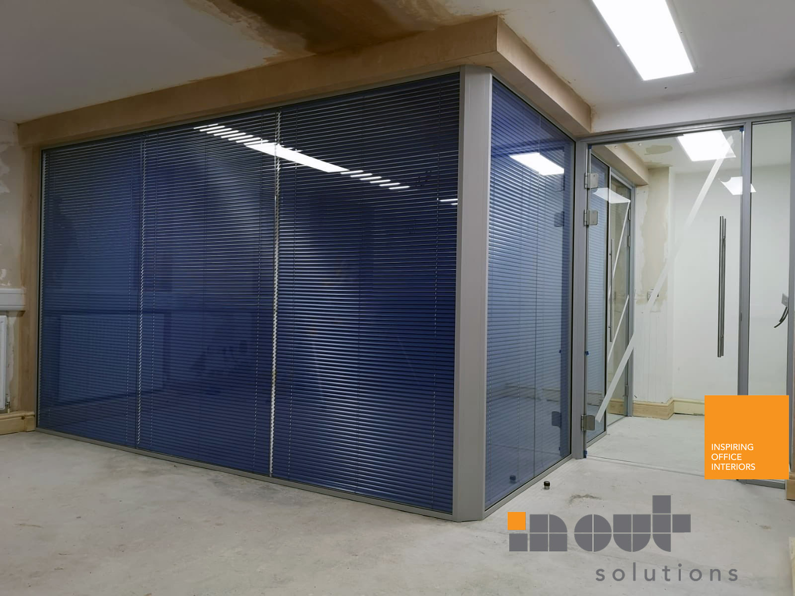 glass partitions Leeds Sheffield Yorkshire Rotherham doors glazed office partitioning glazing bespoke made to measure - 1