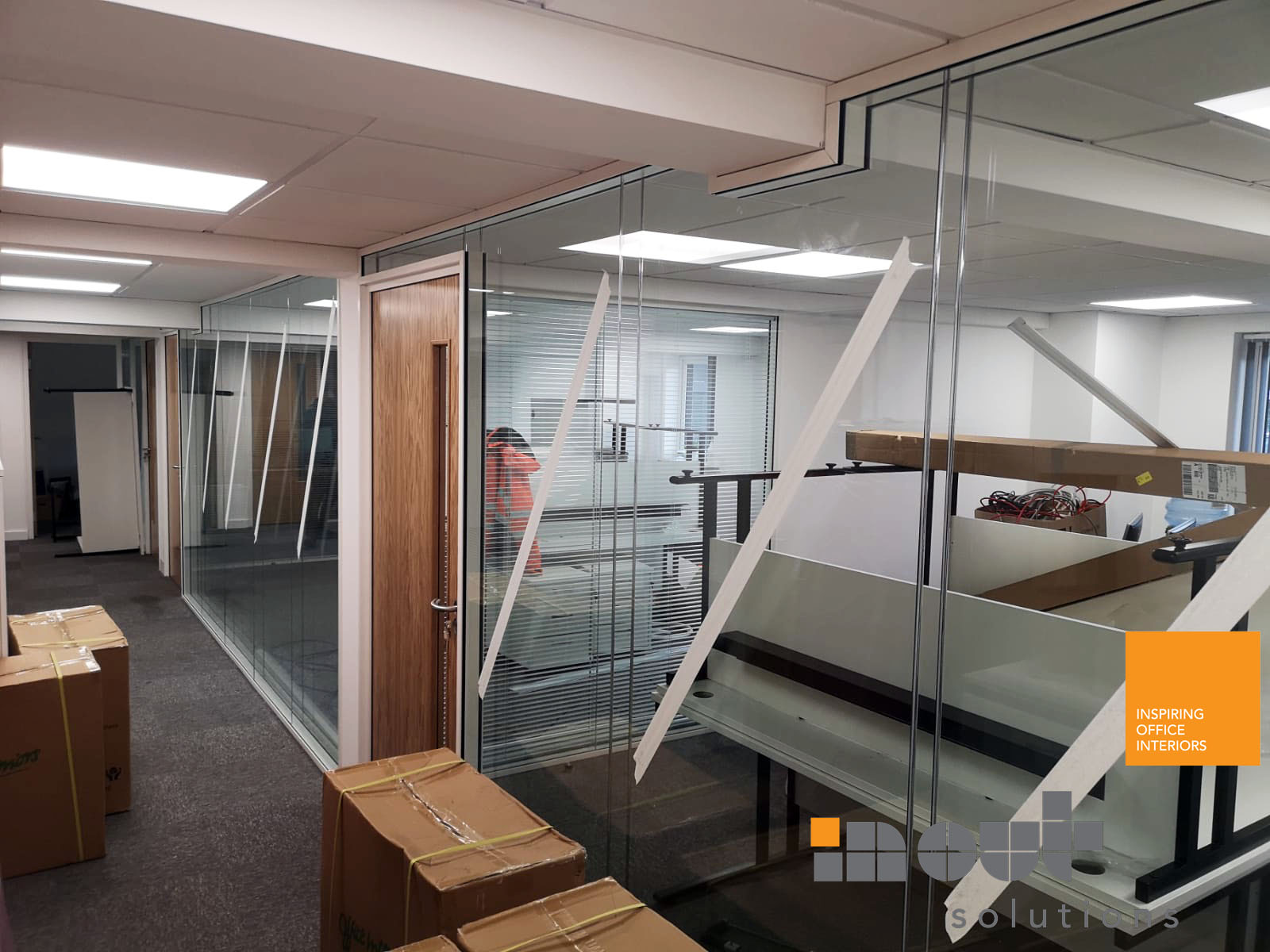 Double Glass Partitions Leeds