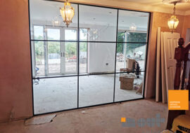 Internal Glass Home Divider York Glass Room Walls Dividers Cost UK Interior Doors Home Installers Glazed Office Partitions Costs Installed Leeds Prices Yorkshire Noise Reducing Double Single Glazing