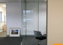 Office Refurbishment Ilkley Yorkshire glass partitions Leeds Sheffield Yorkshire Rotherham doors glazed office partitioning glazing bespoke made to measure - 8