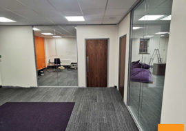 office partitions Worcester double glazed walls acoustic sound reduction frameless