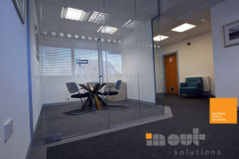Office Refurbishment Ilkley Yorkshire glass partitions Leeds Sheffield Yorkshire Rotherham doors glazed office partitioning glazing bespoke made to measure - 2