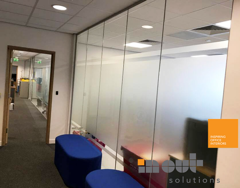 Glass partitions Office Refurbishments Leeds, Sheffield, Rotherham Yorkshire