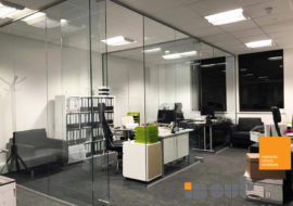 glazed partitions leeds office refurbishment