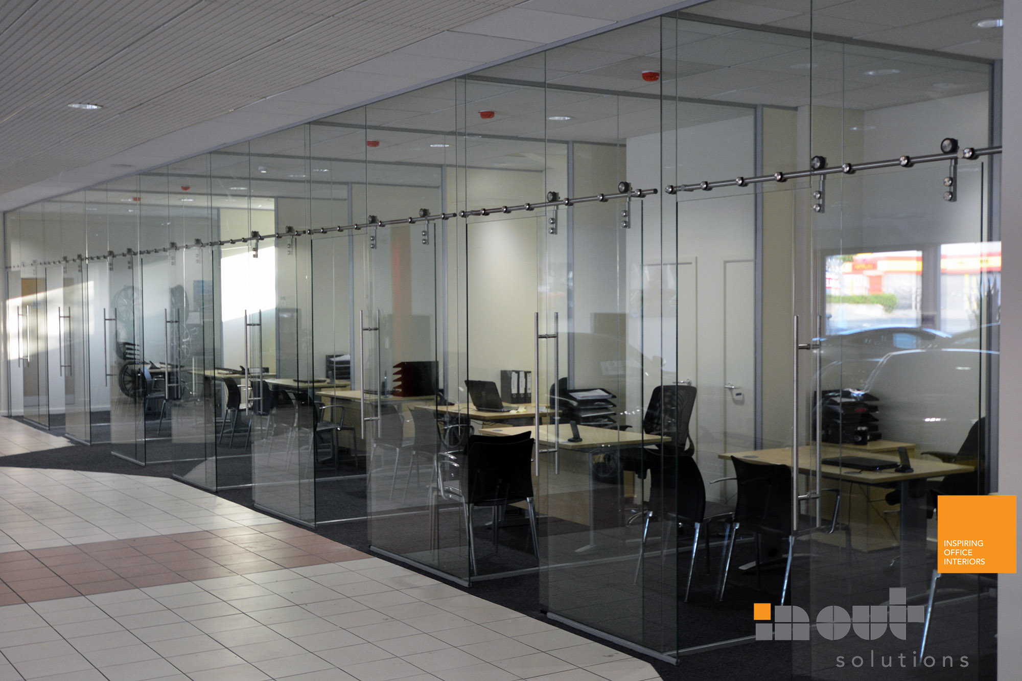 Office Frameless Glass Partitioning Leeds And West