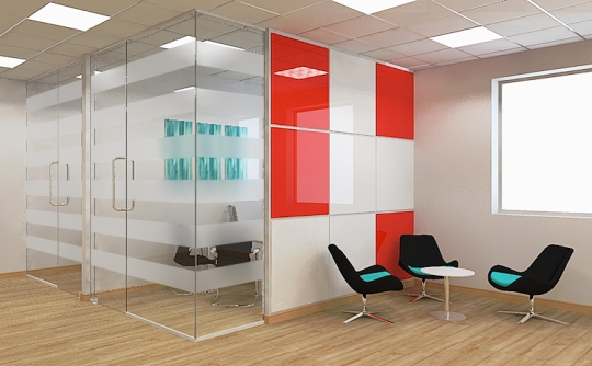 Frameless glass partitions leeds west yorkshire for Office design west yorkshire