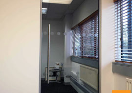 Office Refurbishment Ilkley Yorkshire glass partitions Leeds Sheffield Yorkshire Rotherham doors glazed office partitioning glazing bespoke made to measure - 6