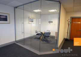 Office Refurbishment Ilkley Yorkshire glass partitions Leeds Sheffield Yorkshire Rotherham doors glazed office partitioning glazing bespoke made to measure - 9